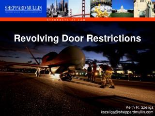 Revolving Door Restrictions