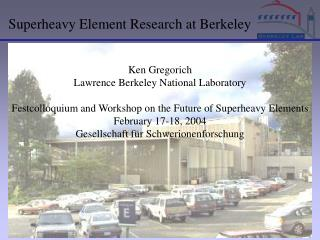 Superheavy Element Research at Berkeley