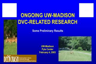 ONGOING UW-MADISON DVC-RELATED RESEARCH Some Preliminary Results
