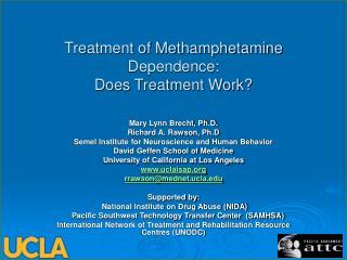 Treatment of Methamphetamine Dependence:  Does Treatment Work?