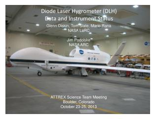 Diode Laser Hygrometer (DLH) Data and Instrument Status