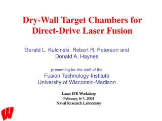 Dry-Wall Target Chambers for Direct-Drive Laser Fusion