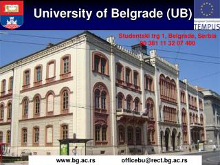 University of Belgrade (UB)