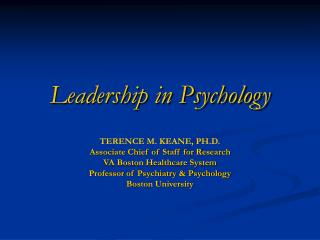 Leadership in Psychology