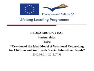 LEONARDO DA VINCI  Partnerships  Project