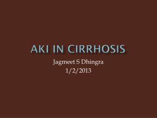 AKI in Cirrhosis
