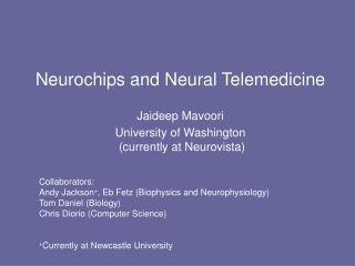 Neurochips and Neural Telemedicine