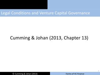 Legal Conditions and Venture Capital Governance