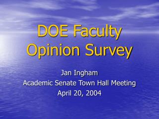 DOE Faculty Opinion Survey