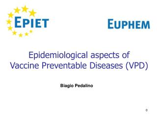 Epidemiological aspects of  Vaccine Preventable Diseases (VPD)