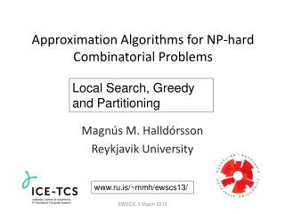 Approximation Algorithms for NP-hard Combinatorial Problems