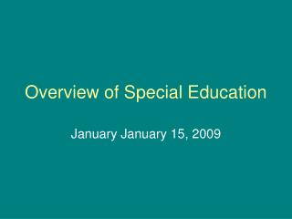 Overview of Special Education