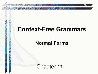 Context-Free Grammars Normal Forms