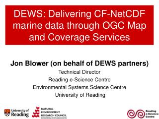 DEWS: Delivering CF-NetCDF marine data through OGC Map and Coverage Services