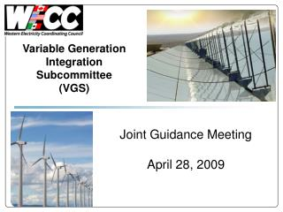Joint Guidance Meeting April 28, 2009