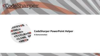 CodeSharper PowerPoint Helper