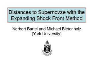 Distances to Supernovae with the Expanding Shock Front Method