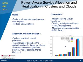 Power-Aware Service Allocation and Reallocation in Clusters and Clouds