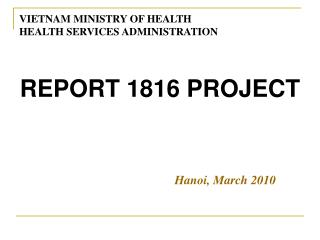 REPORT 1816 PROJECT