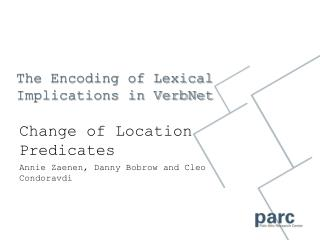 The Encoding of Lexical Implications in VerbNet