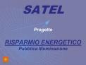 Progetto  RISPARMIO ENERGETICO Pubblica Illuminazione