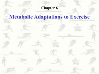 Chapter 6 Metabolic Adaptations to Exercise