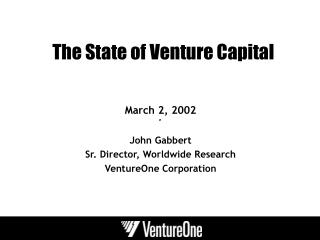The State of Venture Capital
