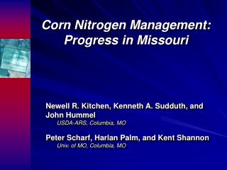 Corn Nitrogen Management: Progress in Missouri