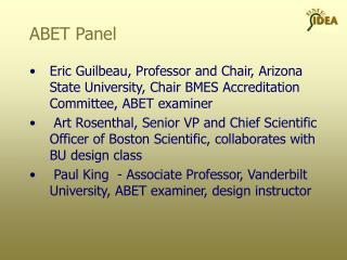 ABET Panel