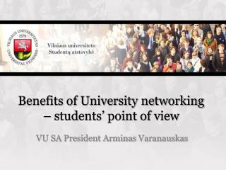 Benefits of University networking – students' point of view