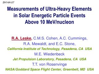 Measurements of Ultra-Heavy Elements  in Solar Energetic Particle Events  Above 10 MeV/nucleon