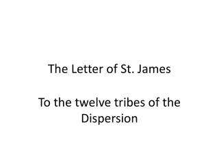 The Letter of St. James