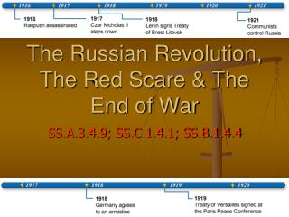 The Russian Revolution, The Red Scare & The End of War