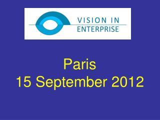 Paris  15 September 2012