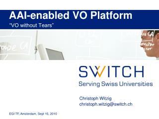 AAI-enabled VO Platform