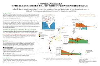 A STRATIGRAPHIC RECORD  OF THE TIME TRANSGRESSIVE INDIA-ASIA COLLISION FROM NORTHWESTERN PAKISTAN