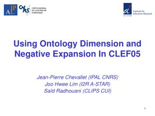 Using Ontology Dimension and Negative Expansion In CLEF05
