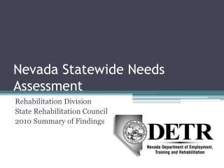 Nevada Statewide Needs Assessment