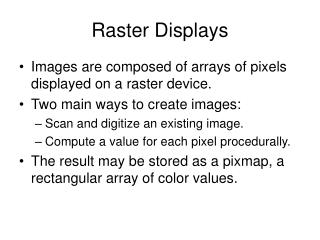 Raster Displays