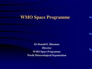 WMO Space Programme