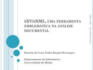 eXVisXML , uma ferramenta emblemática na análise documental