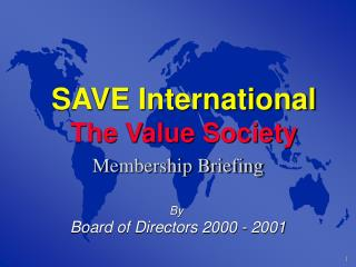 SAVE International The Value Society