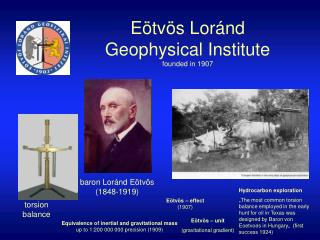 Eötvös Loránd Geophysical Institute founded in 1907