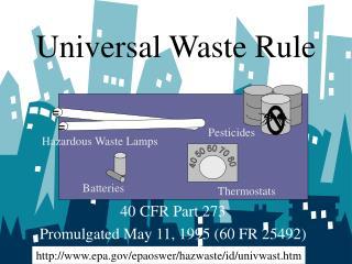 Universal Waste Rule