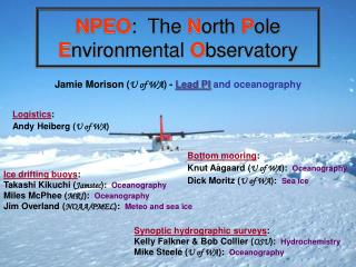 NPEO :  The  N orth  P ole  E nvironmental  O bservatory