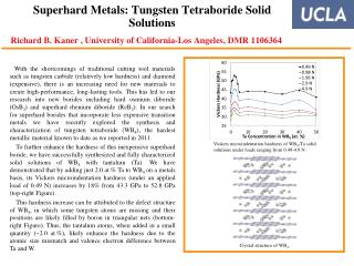 Vickers microindentation hardness of WB 4 -Ta solid solutions under loads ranging from 0.49-4.9 N.