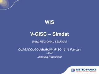 WIS V-GISC – Simdat