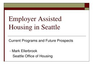 Employer Assisted Housing in Seattle