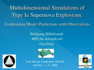 Multidimensional Simulations of Type  Ia  Supernova Explosions: