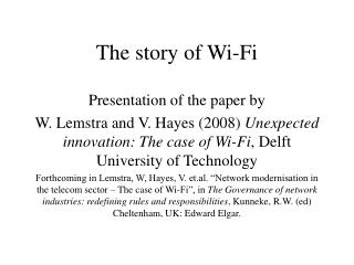 The story of Wi-Fi